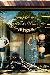 "Gwynevere's Closet is a play on a downtown store called ""For Elyse"" named after the owner's daughter. The site is all wrong though. If you tried to follow in Becca and Gwyne's footsteps you'd run into St. Augustine's Episcopal Church."
